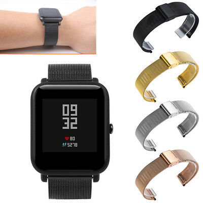 Milanese Stainless Steel Wristband Watch Strap Bracelet for Huami Amazfit Bip