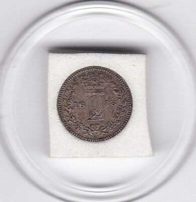 1838  Young  Queen  Victoria  Maundy Two  Pence  (m2d)  Silver (92.5%) Coin