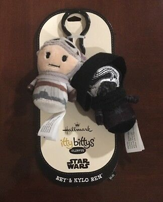 STAR WARS Rey & Kylo Ren Hallmark itty bittys Clippys The Force Awakens NEW