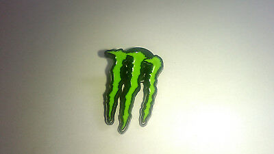monster energy claw hat pin w/ 2 free stickers