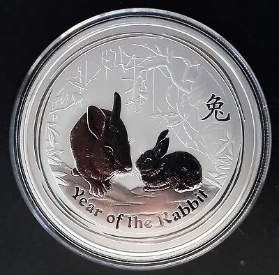 2011 Australia Year of the Rabbit 2oz ( 99.9% ) Silver Frosted $2 Coin
