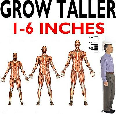 GAIN HEIGHT! BE TALLER! POWERFUL BONE GROWTH THAT WORKS! 4 Month course  FREE P&P