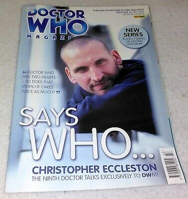 Doctor Who Magazine Issue 343 (Says Who...Eccleston cover)