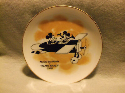 Vtg Mickey Mouse**plane Crazy**collectors Plate 1928(Aa25)