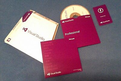 Visual Studio 2012 Professional Edition Disc, Key Card, Certificate of Authent.
