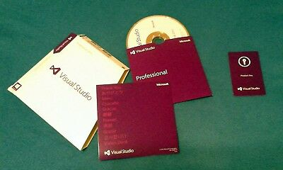 Visual Studio 2013 Professional Edition Disc, Key Card, Certificate of Authent.