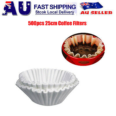 500pcs Expresso cup Coffee Machine Maker Paper Filter Paper Replacement 25cm