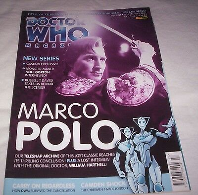 Doctor Who Magazine Issue 347 (Marco Polo Cover)