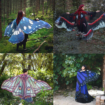 Fairy 1Pcs Costume Accessory Pixie Butterfly cape Nymph Wings Beach cape Tippet