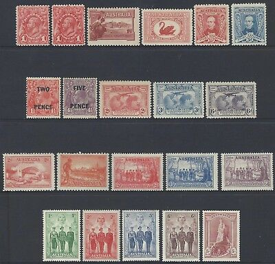 Eclectic Collection of Early Pre Decimal Mint Never Hinged MNH KGV Sets & Single