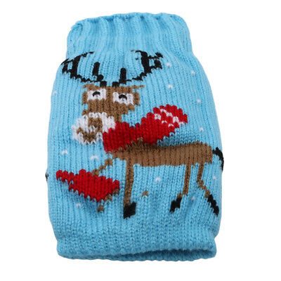 Xmas Knitted Jumper Beer Wine Spirit Bottle Cooler Gift Fun Party Kris LG