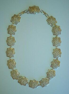 VINTAGE ancient greek style wonderful solid sterling silver .925 necklace 79.3gr