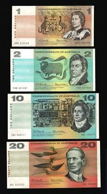 1966 $1,$2,$10,$20 Paper Decimal Notes..1St Issue..coombs/wilson..scarce