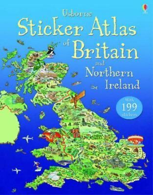 Sticker Atlas of Britain and Northern Ireland 9781409544784 (Paperback, 2012)