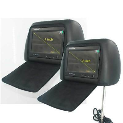 2pcs One Pair7 inch headrest monitor with pillow bag LED Back-Light cover zipper