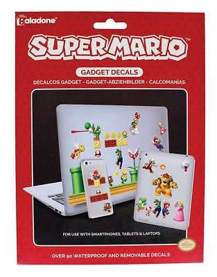 Official  Nintendo Super Mario Gaming Gadget Laptop Decals Removable Stickers