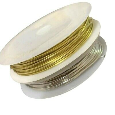 2.5m COPPER 1mm Craft Wire / Gold or Silver  / Tiara Making / Crafts