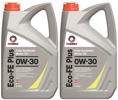 New Comma Motor Oil Eco-FE Plus 0W-30 Ford/Jaguar/Land Rover Fully Synthetic 10L
