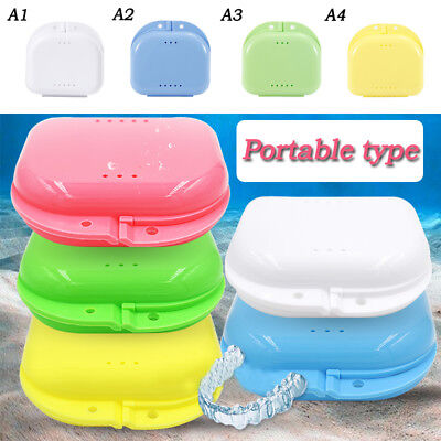 Practical Dental Retainer Case Denture Holder False Teeth Denture Storage Box