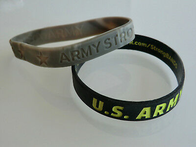 Us Army 2 X Bracelet/armband Strong Bands + Go Army
