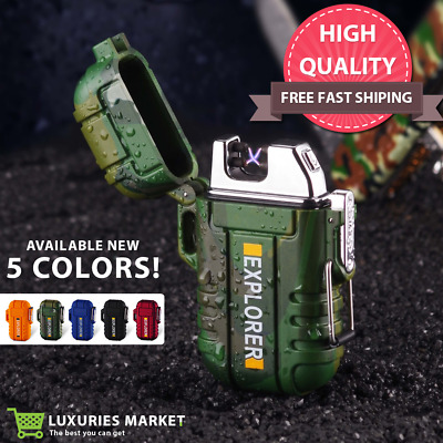 Strong Electronic USB Lighter Flameless Dual Arc Plasma Rechargeable Windproof