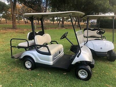 2015  and 2013 YAMAHA GOLF CART 4 SEAT TRAY BACK RESORT FARM BUGGY CAN FREIGHT