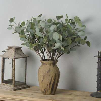 Artificial Fake Leaf Eucalyptus Green Plant Silk Flowers Nordic Home Decor