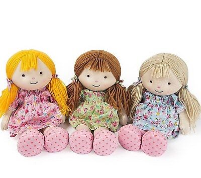 Warmies Rag Doll ELLIE OLIVIA CANDY Warmheart Microwavable Soft Toy - Intelex