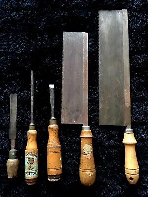 Industrial Rustic Funky Carpentry Woodwork Tools Collectable Germany ..Eltham