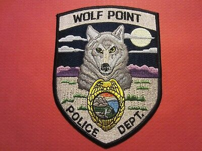 Collectible Montana Police Patch, Wolf Point, New