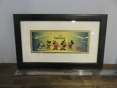 Disney Mickey Mouse millennium pin collection Limited Edition framed artwork