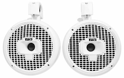 "Pair SPORT8-W Power Sports 8"" Marine Wakeboard Tower Speakers Swivel Clamp"