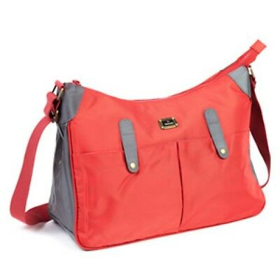 New Babzee Baby Nappy Changing Bag Messenger Bag with Change Mat Red