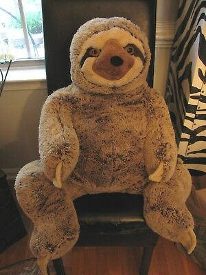 Large Sloth Plush 36 Big Stuffed Animal Toy Hugfun Jumbo Adorable