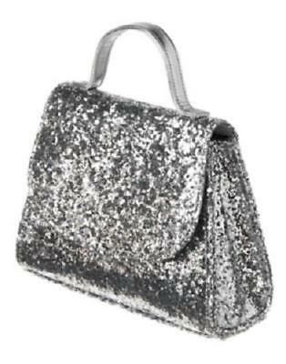 Gymboree Royal Red All Dressed Up Silver Sparkle Purse Hand Bag Nwt