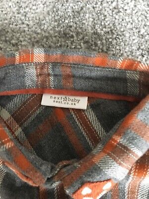 Next Fox Plaid Body Suit 9-12 Months New Without Tags