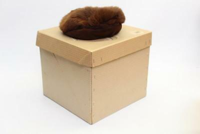 Caleys Windsor Vintage Hat Box With Furry Hat Fancy Dress VIntage Display