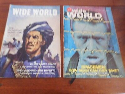 Found 2 Early Editions Of Wide World Magazine For Men  May1964 Jun 1965