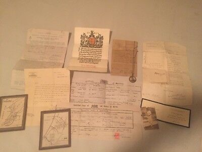 Large WWi RF Artillery Lot Maps, Death Notice, Burial Notice, Soldier Photo Etc