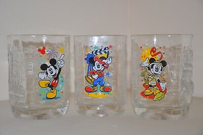 Mcdonalds Collectible Disney 2000 Mickey Mouse Millenium Drinking Glasses