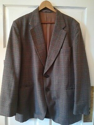 Dapper wool designer Hardy Amies collectable vintage casual tweed mens jacket 44