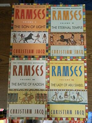 Ramses: The Son of Light - Volume I-IV Paperbacks by Christian Jacq