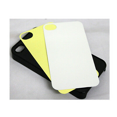 10 Hard Black Blank iPhone 4 Custodia/ Cover in for Heat Sublimation Printing
