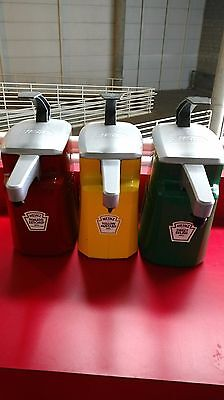 Heinz 1.5 Gallon Condiment Dispensers Commercial Aseptic Ketchup Mustard Relish