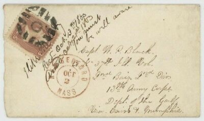 Mr Fancy Cancel 65 CIVIL WAR COVER TO SOLDIER DEPT OF GULF S&E GE-P27 FANCY CANC