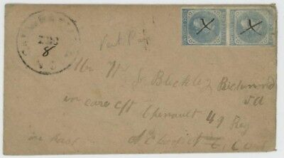 Mr Fancy Cancel CSA 6 PAIR COVER TO SOLDIER 49th REGIMENT NC TROOPS RICHMOND VA