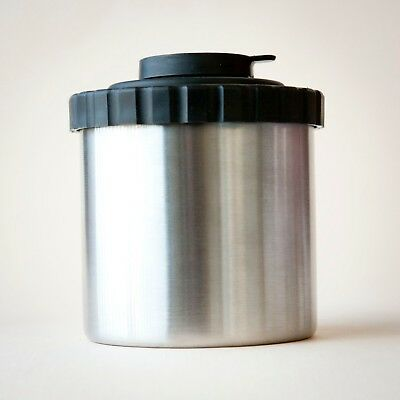 STAINLESS STEEL FILM PROCESSING TANK for 35 & 120 FILM w/PLASTIC LID NO REELS