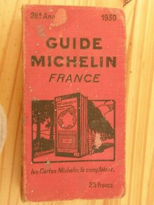 Guide Rouge  Michelin France 1930/  26 Edition