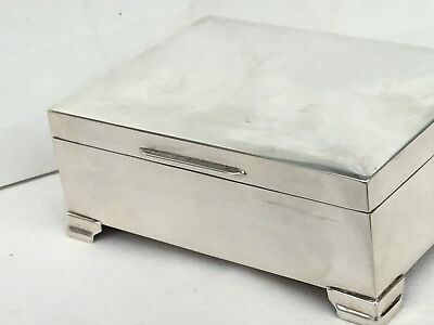Excellent Silver Table Cigarette Box, Hallmarked 1963