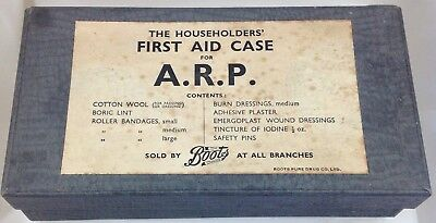"""Wwii Wartime  First Aid Kit For Arp  Complete With Full Contents  """"home Front"""""""